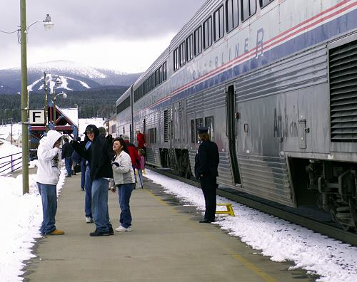 Amtrak at Fraser